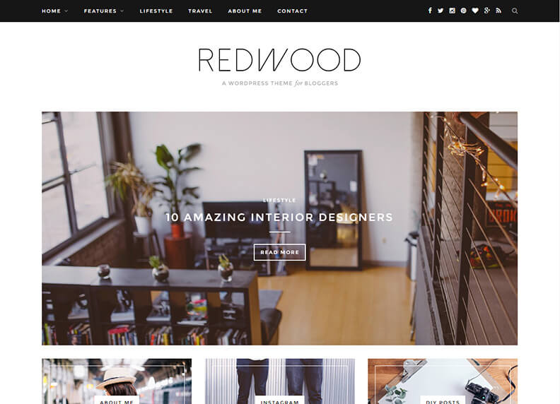 Redwood Just another Magazine WordPress Theme