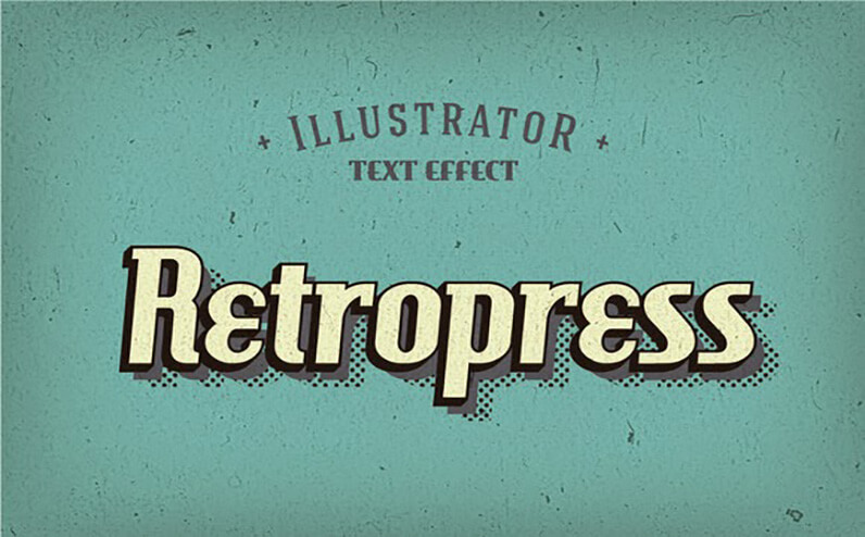 Retropress Free Photoshop Text