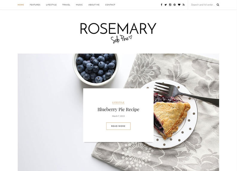 Rosemary Magazine WordPress Theme