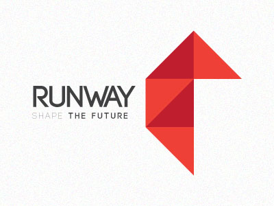 Run Way Origami Inspired Logo