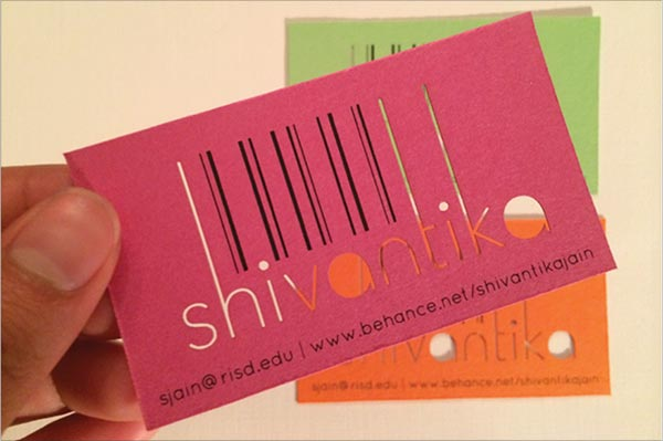 Shivantika Die Cut Business Card