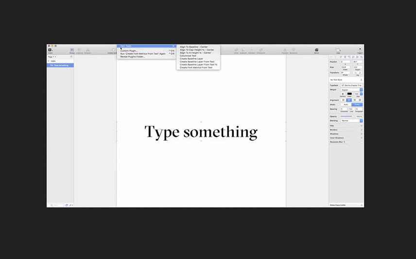 Sketch Text Tools Sketch App Plugin for Developers