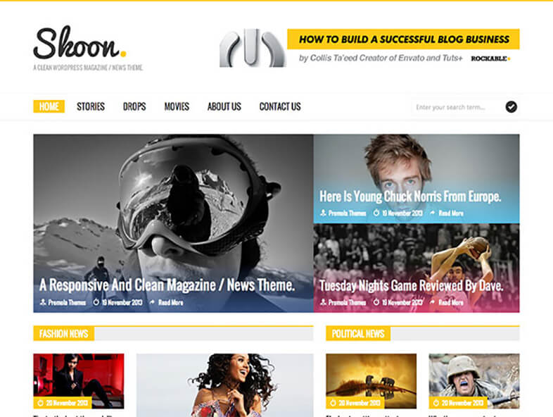 Skoon Magazine WordPress