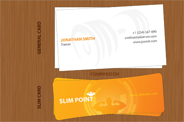 Slim Business Card Design & Idea for Inspiration