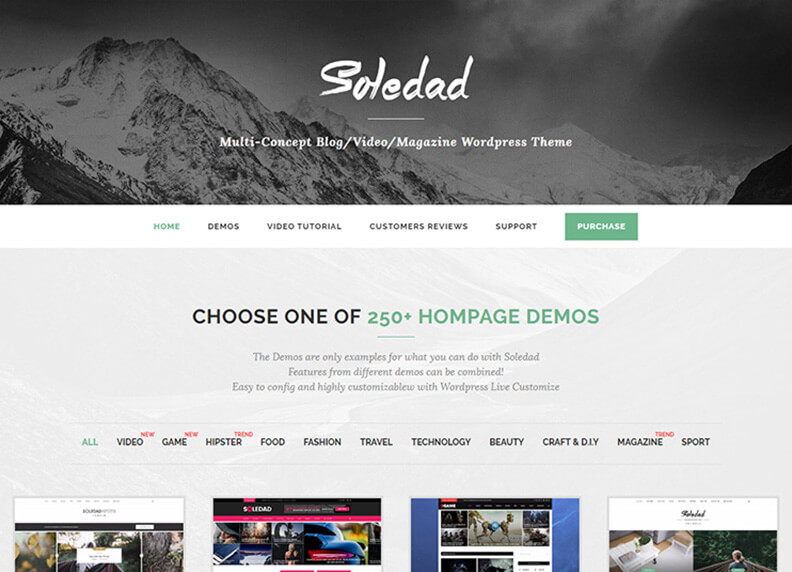 Soledad Best Responsive Magazine WordPress