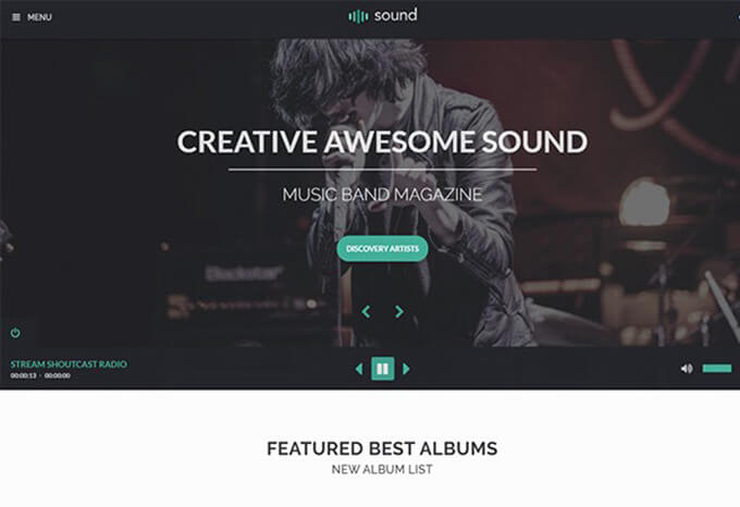 Sound Artist Theme for Musicians & Bands
