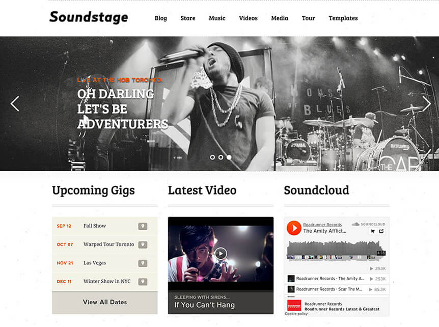 Soundstage Theme for Musicians & Bands