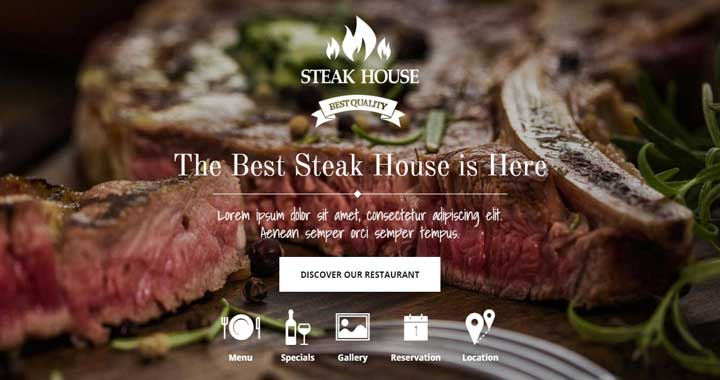 Steak Coffee Shop WordPress Theme