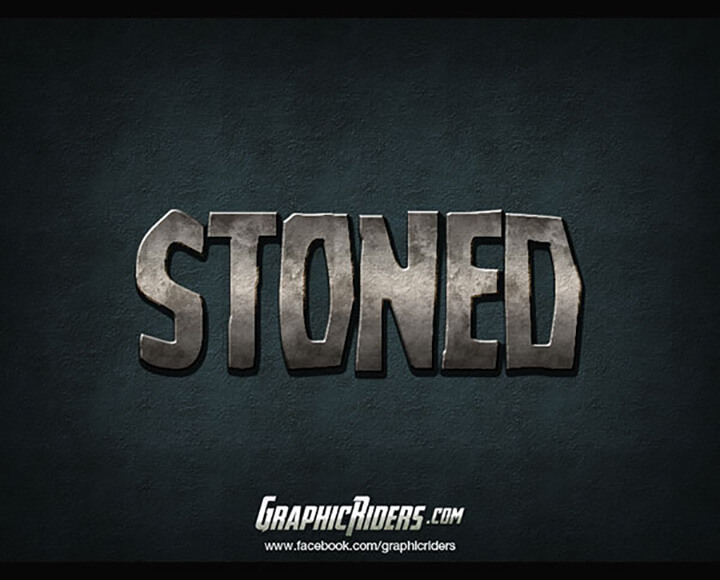 Stoned Free Photoshop Text Styles