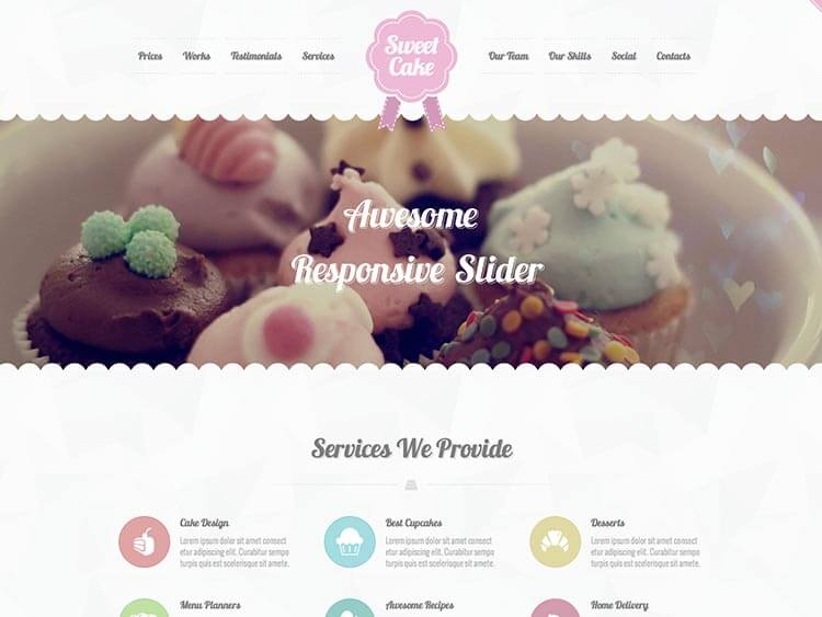 Sweet Coffee Shop WordPress Theme