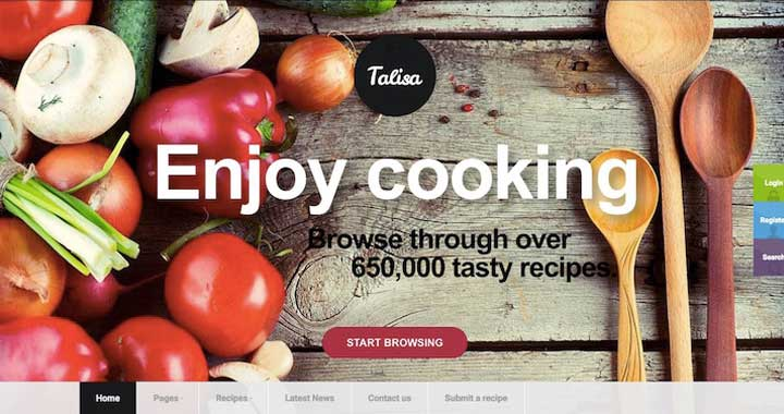 Talisa Coffee Shop WordPress Theme