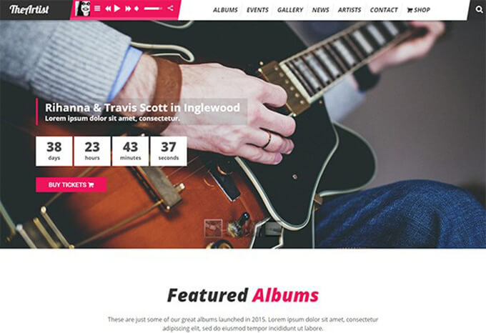 The Artist WordPress Theme for Musicians