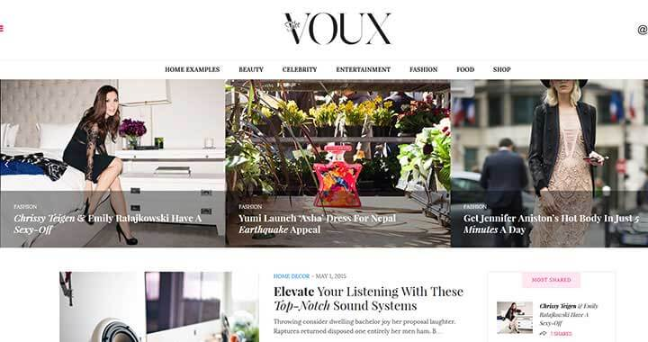 The Voux Coffee Shop WordPress Theme