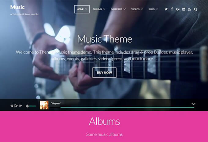 Themeify Music WordPress Theme