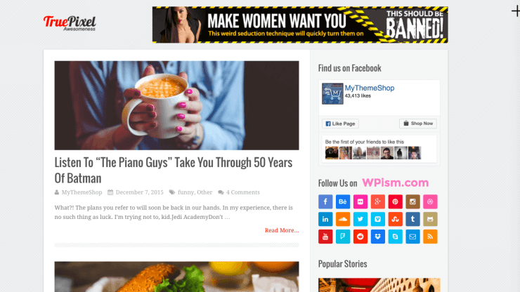 TruePixel Best Friendly WordPress Theme