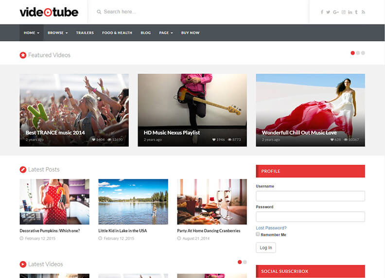 VideoTube Best Responsive Magazine WordPress