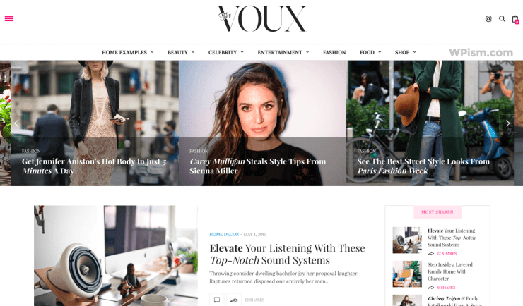 Voux AdSense Friendly WordPress Theme