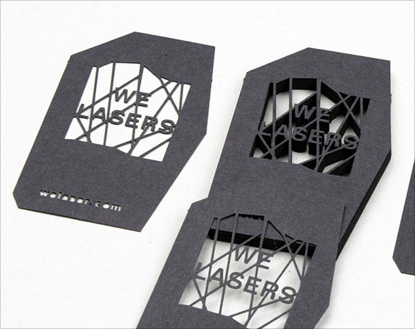 We Die Cut Business Card