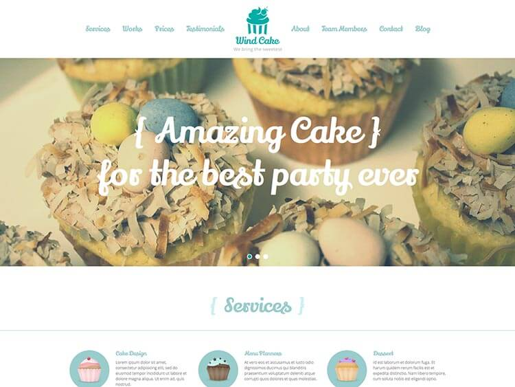 WindCake Coffee Shop WordPress Theme