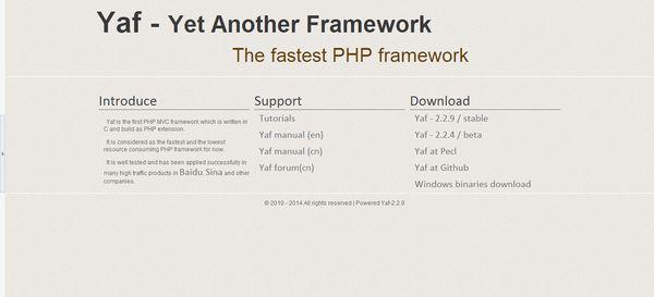 yaf framework