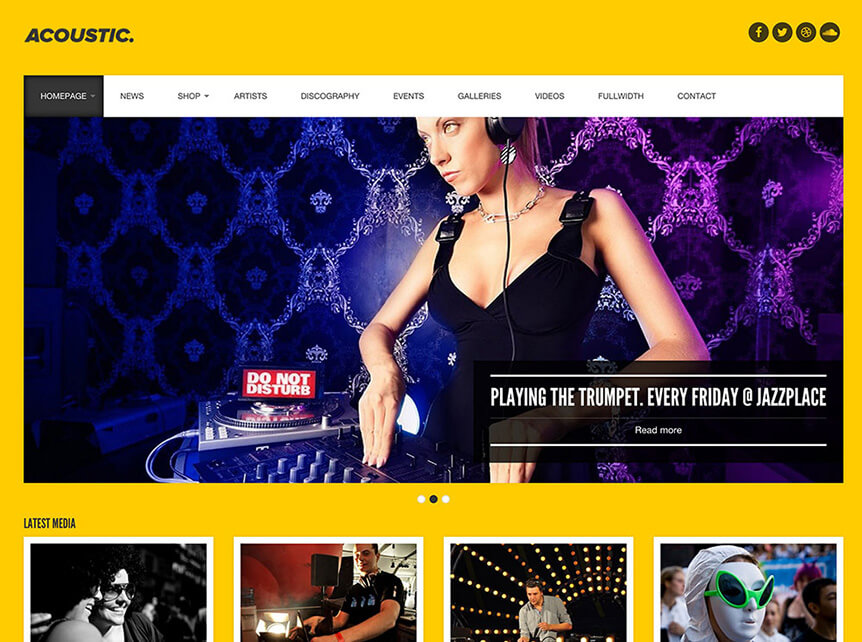 acoustic music WordPress Theme