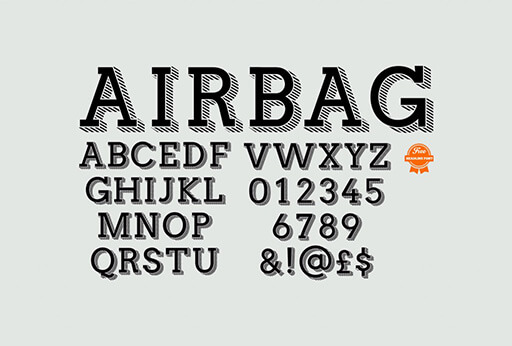 airbag Best Free Font