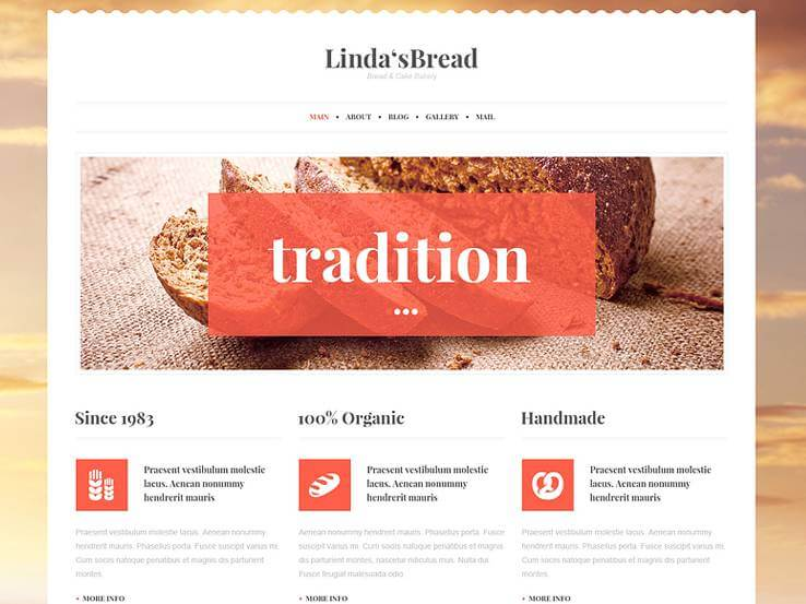 bakery tradition WordPress Theme