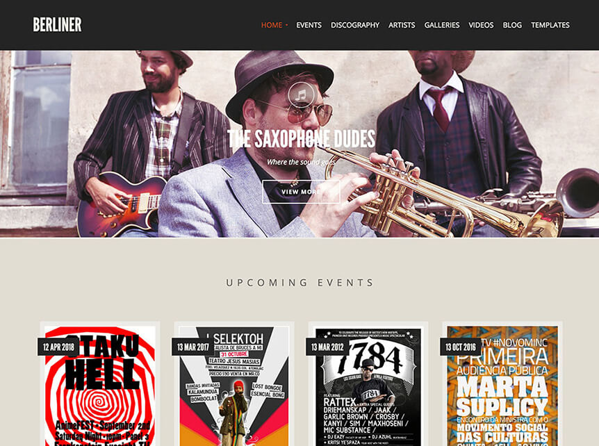 berliner music WordPress Theme