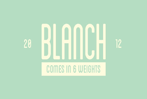blanch Font for Hipsters