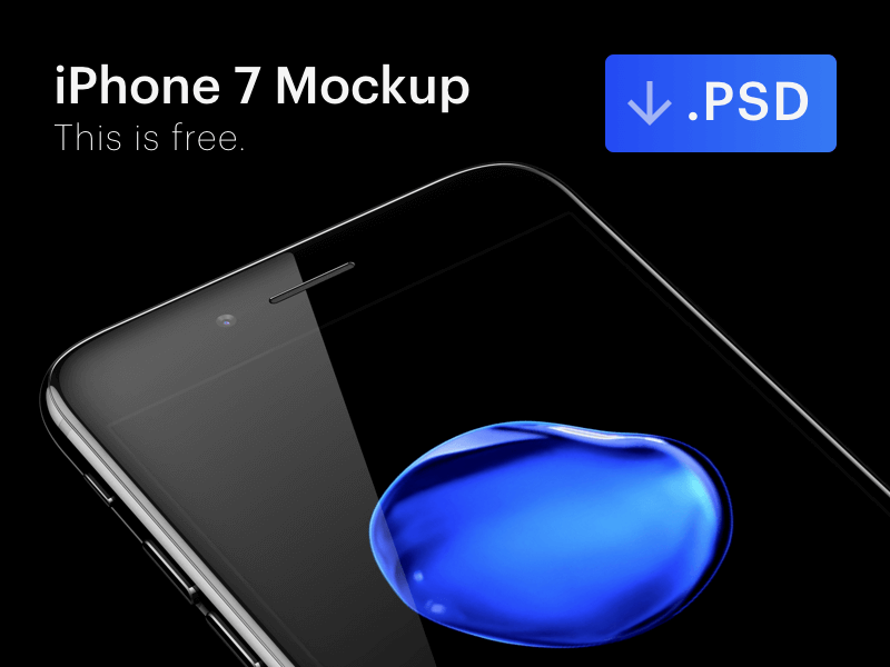 blue Plus PSD Mockup Template