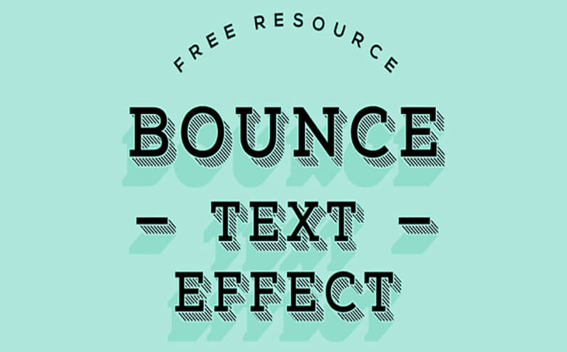bounce Text Effects