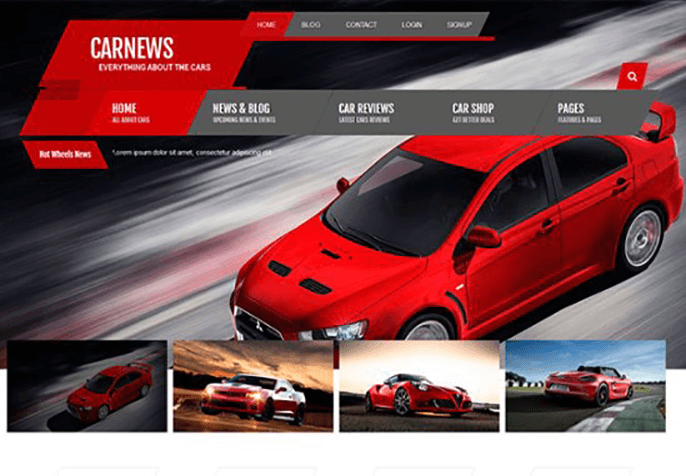carnews Best Review WordPress Theme for Product Review Website