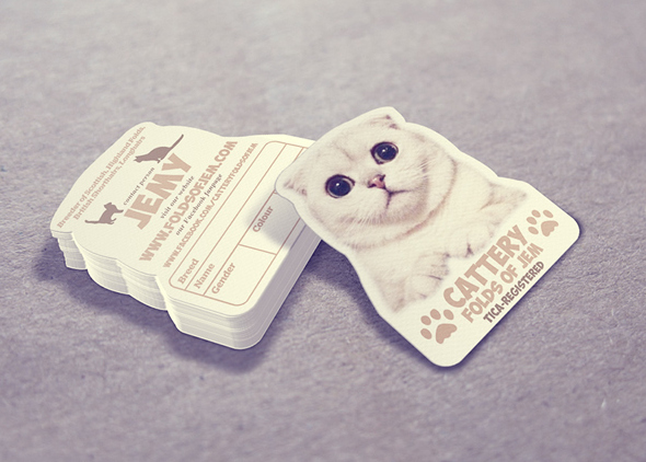 cat business card design