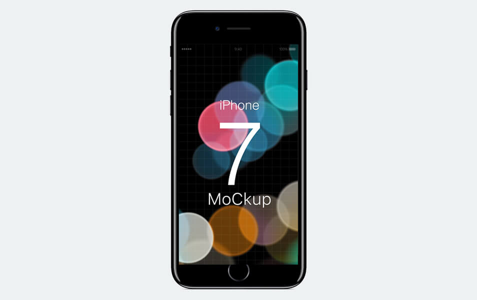 colorfull iPhone 7 Jet Black & 7 Plus PSD Mockup