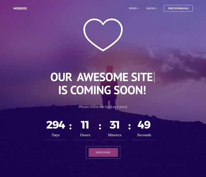 coming Under Construction HTML Website