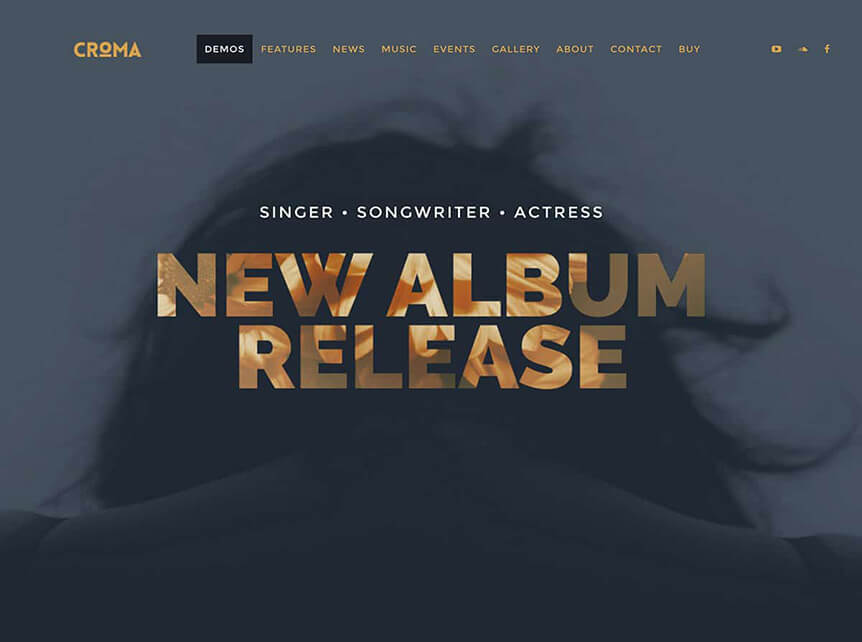 croma Best Music WordPress Theme for Musicians & Bands