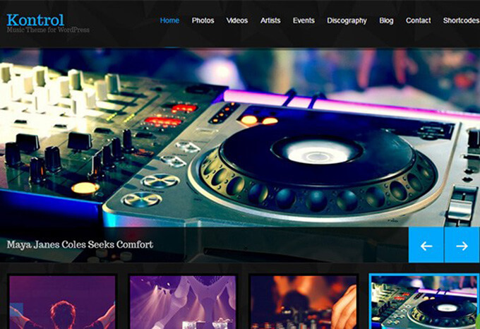 css ignitor Best Music WordPress Theme for Musicians & Bands