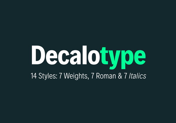 decalotype Free Font 2017