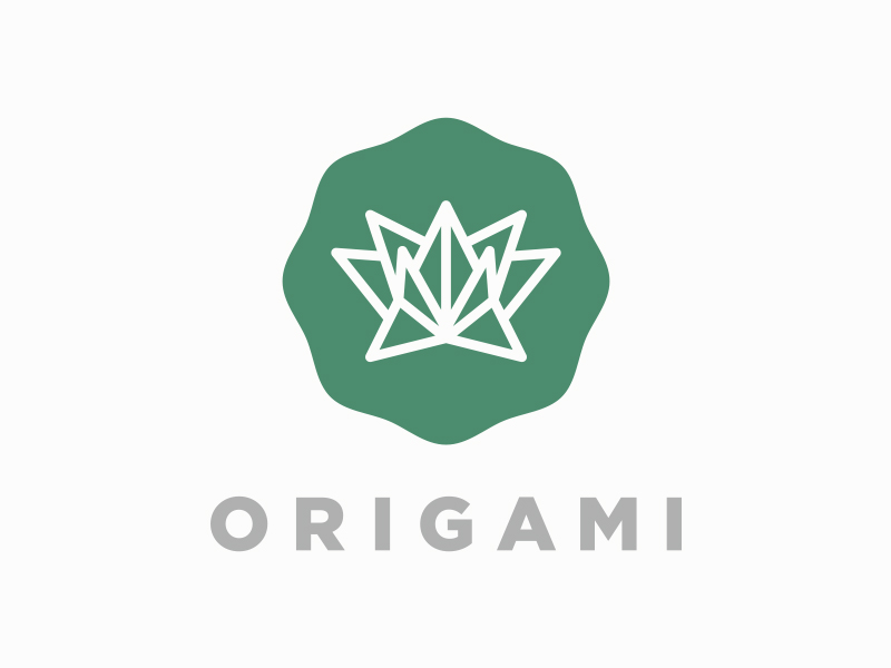 drib Unique Origami Inspired Logo Design