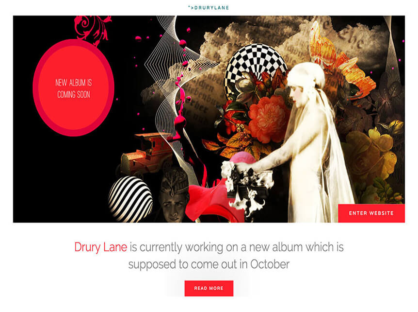 drury lane Best Music WordPress Theme for Musicians & Bands