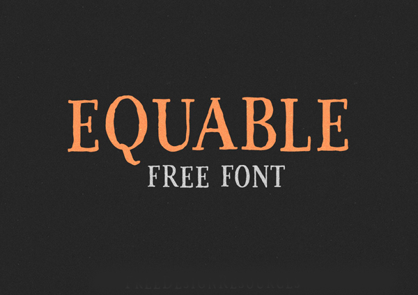 equable Best Free Font 2017