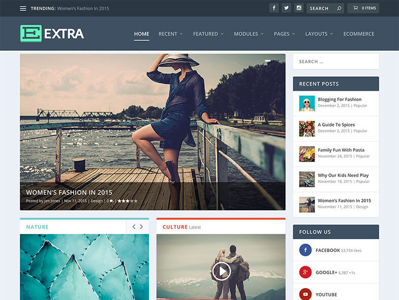 extra 80 Best Responsive Magazine WordPress Theme