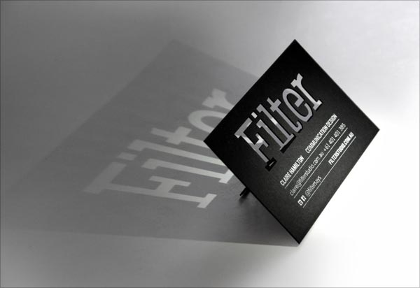 filter Cut Business Card