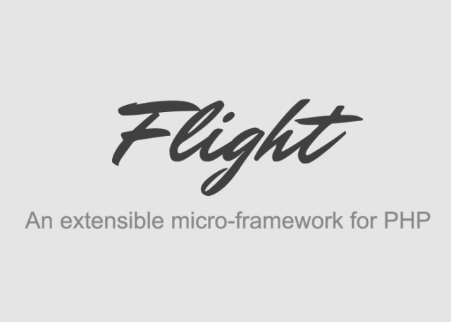 flight Framework For Web Developers