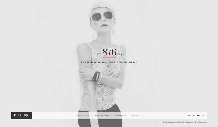 free pixicon HTML Website Template