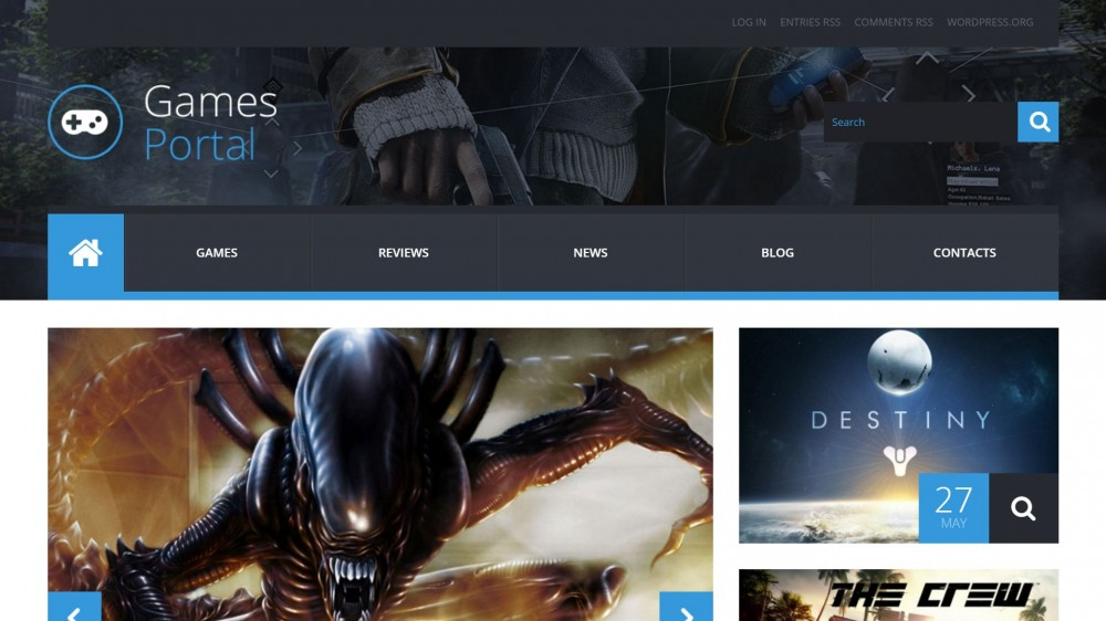 gameportal Gaming WordPress Theme