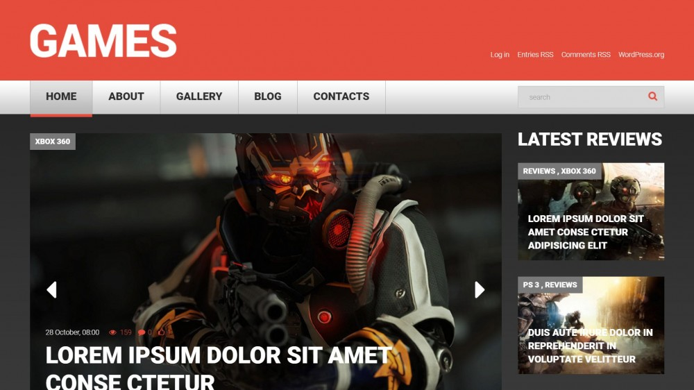 gameportalwt Gaming WordPress Theme
