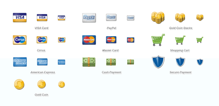 gold coins icon Free Credit Card Debit Card and Payment