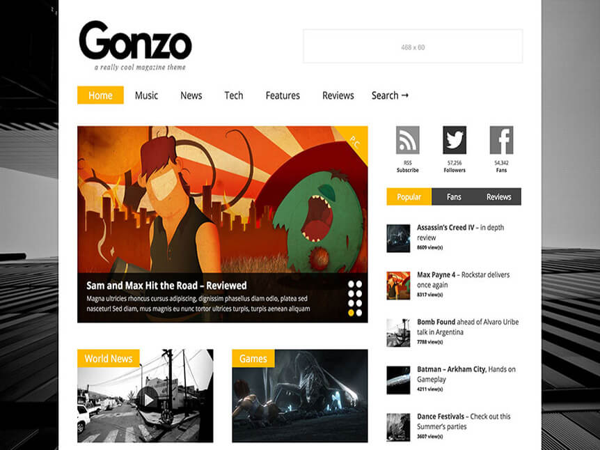 gonzo Best Review WordPress