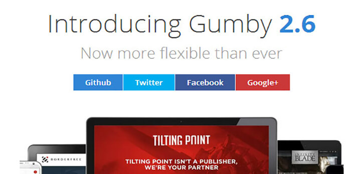 gumby Responsive HTML5 and CSS3 Framework 2017